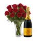 Same Day Delivery for Champagne & Roses Gift Basket