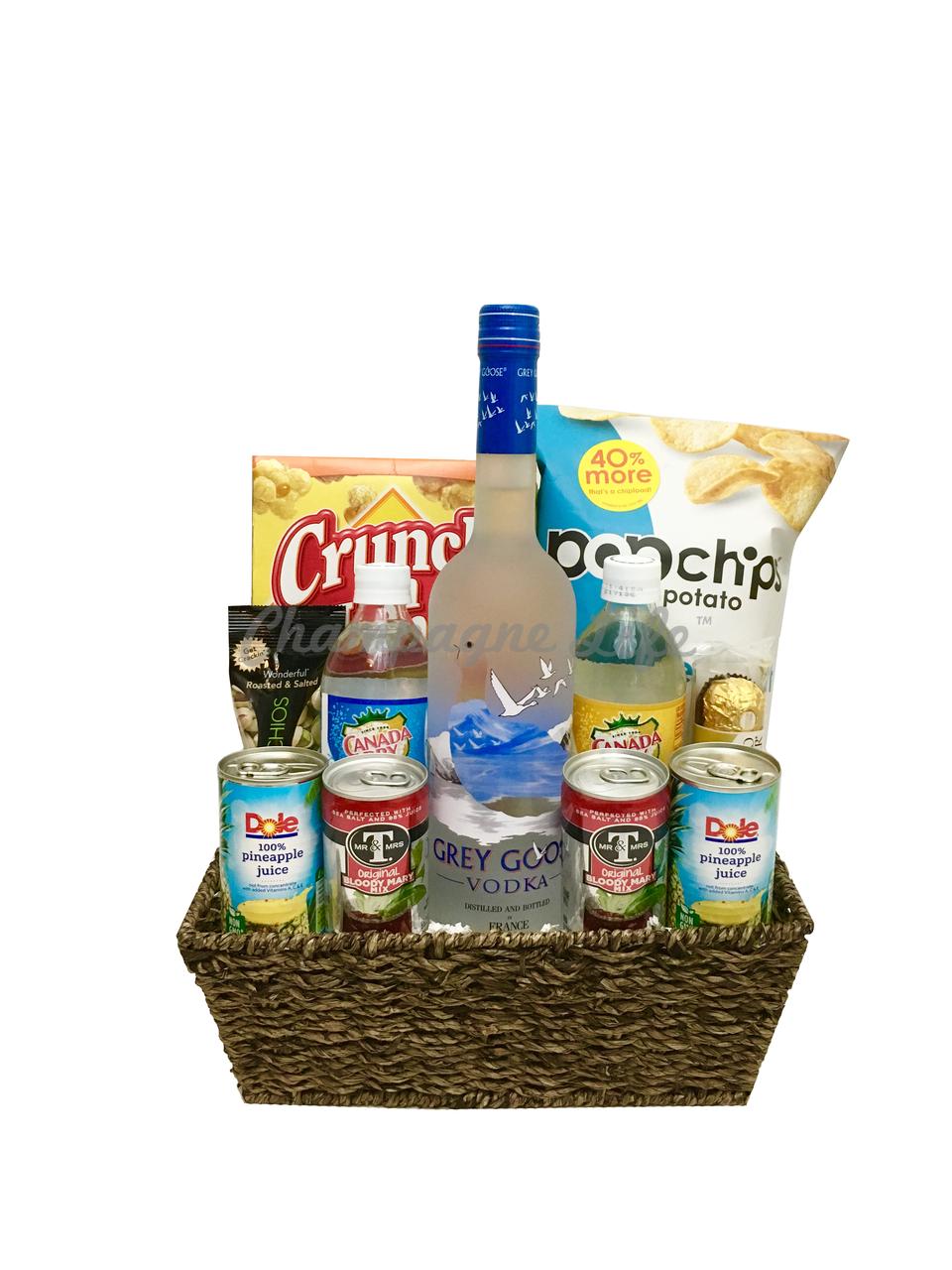 Grey Goose Gift Basket Champagne Life Gift Baskets