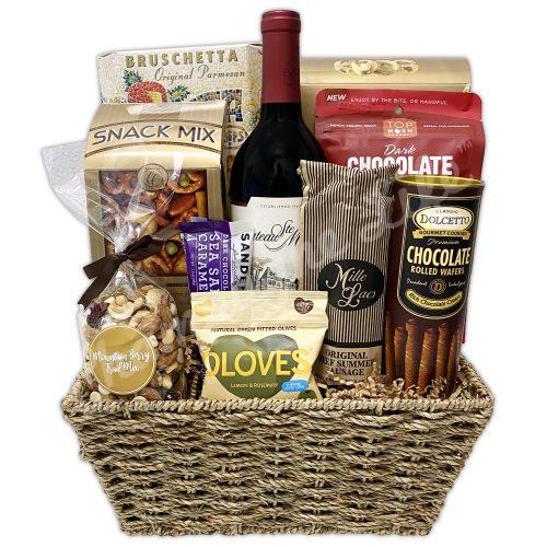 Champagne Life - Gourmet Goodies Wine Gift Basket