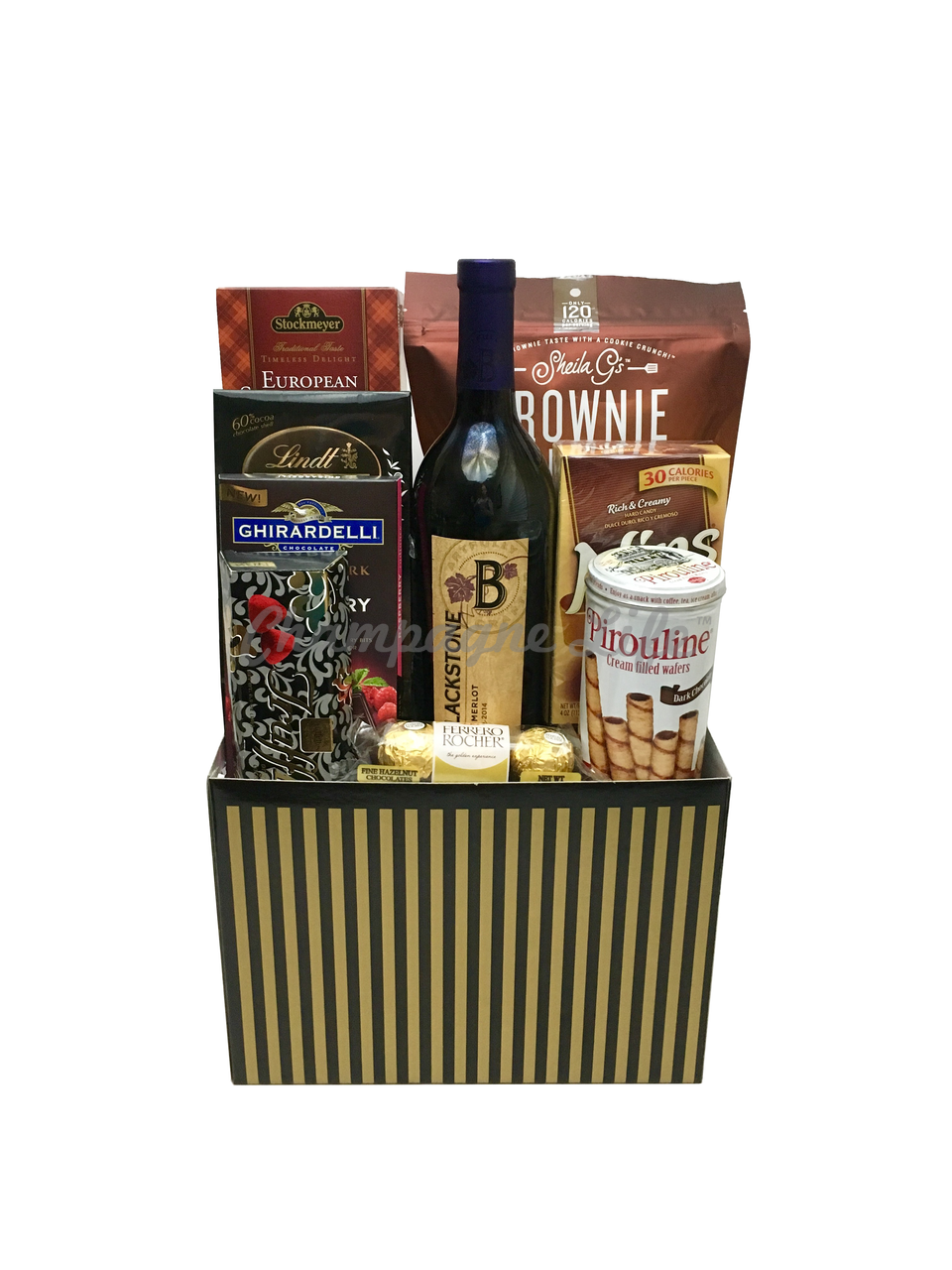 Wine And Chocolate Gift Box Champagne Life Gift Baskets