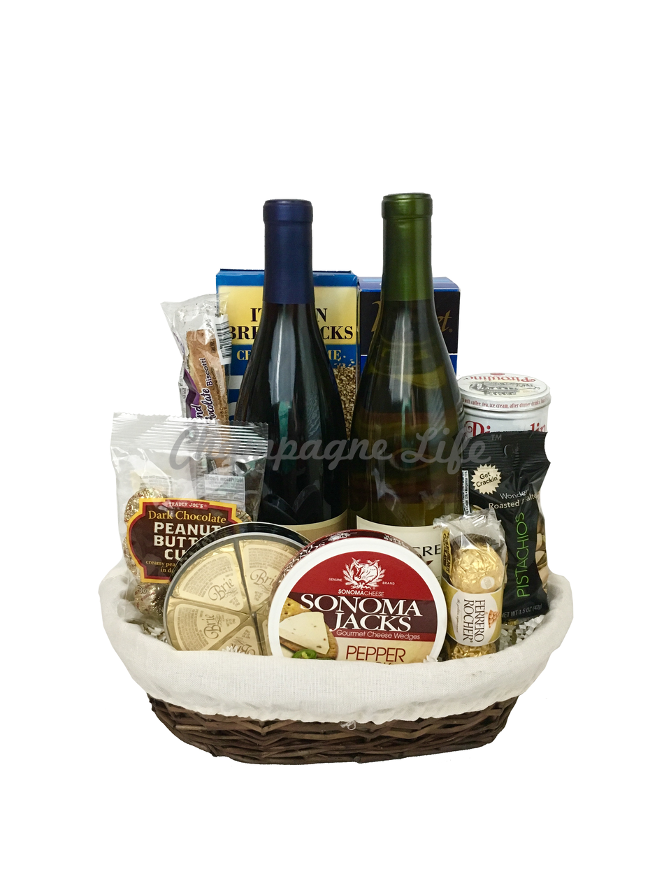 Red and White Wine Gift Basket  sc 1 st  Ch&agne Life Gift Baskets & Red and White Wine Gift Basket - Champagne Life Gift Baskets