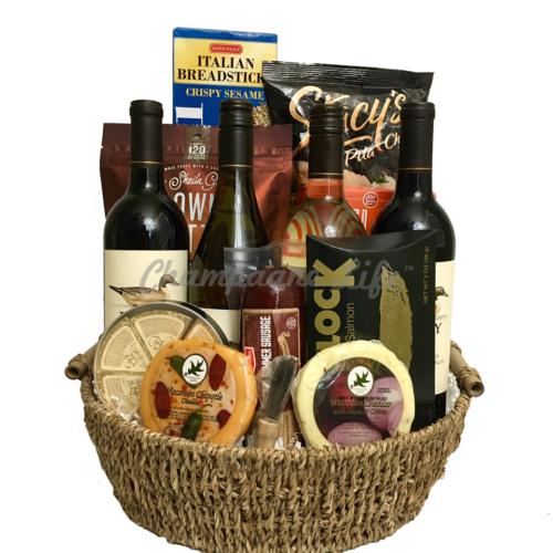 Jumbo Wine Gift Basket