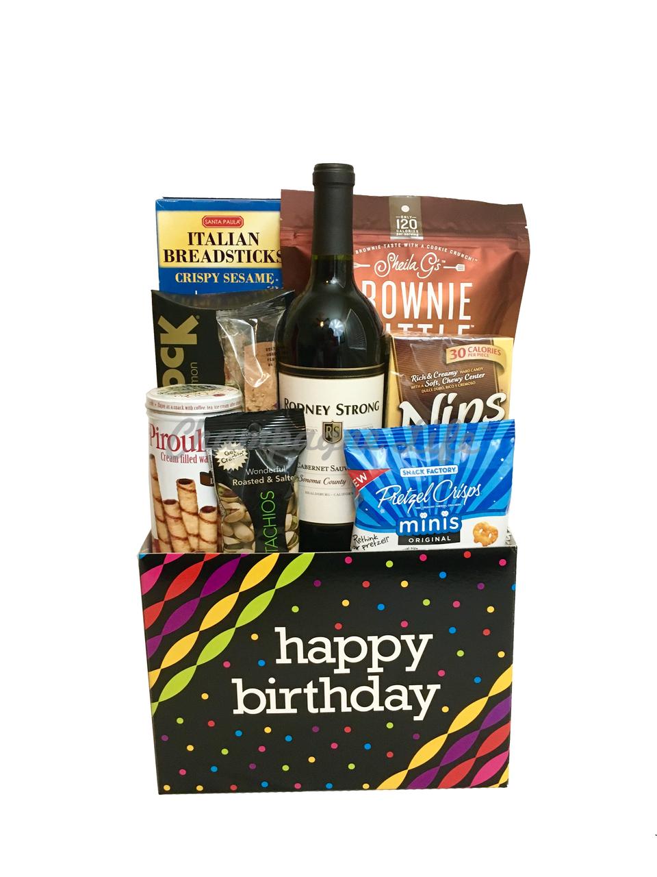 Wine Birthday Gift Box