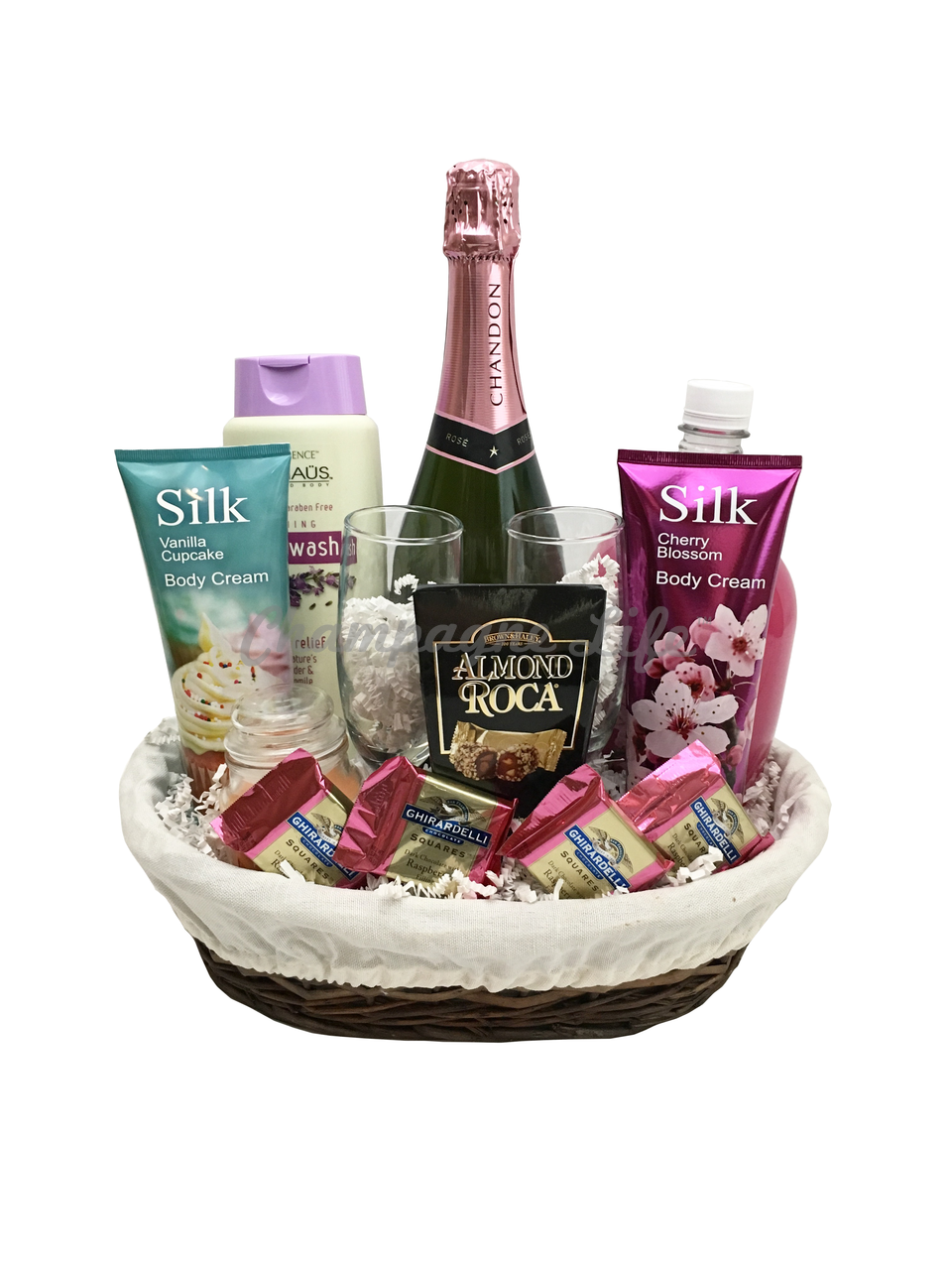 Champagne Bubble Bath Basket Champagne Life Gift Baskets