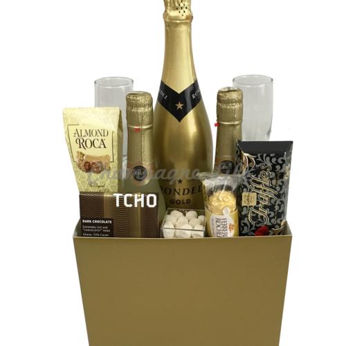 Gold Wedding Gift Basket