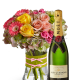 Champagne Life - Colorful Bouquet and Champagne