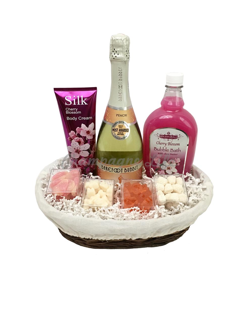 Peach Bellini Bubble Bath Gift Basket