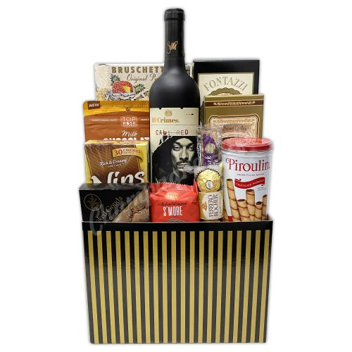Champagne Life - California Wine and Snacks Gift Basket