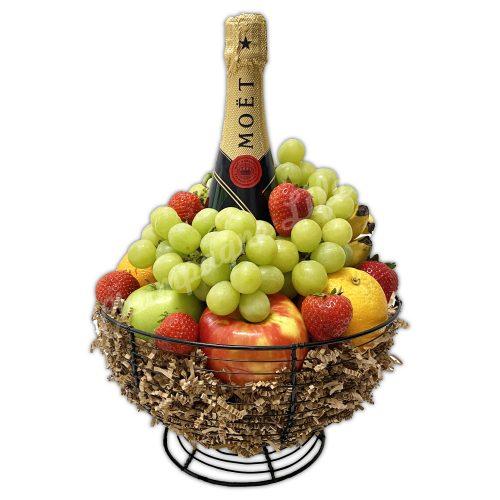 Champagne Life - Moet & Chandon Fruit Gift Basket