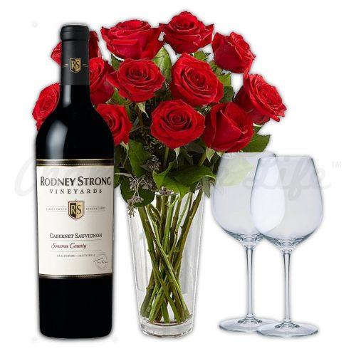 Champagne Life - Wine & Rose Gift Set