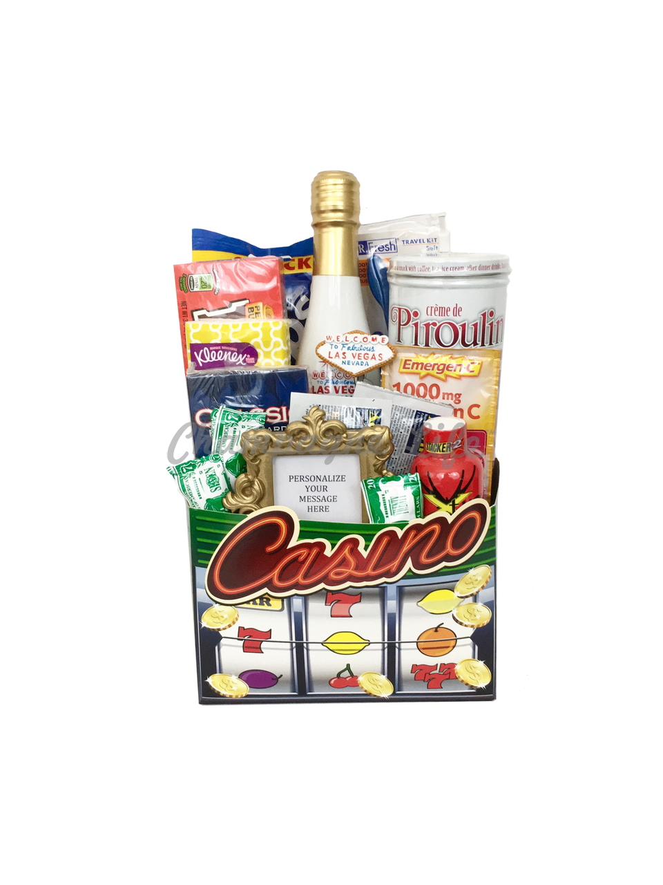 Small Casino Gift Box Champagne Life Gift Baskets