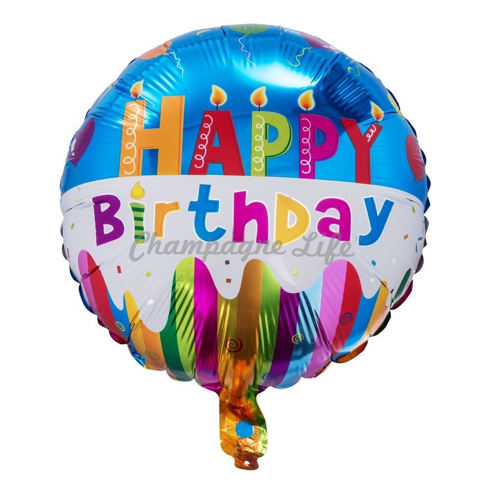 Happy Birthday Mylar Balloon Champagne Life Gift Baskets