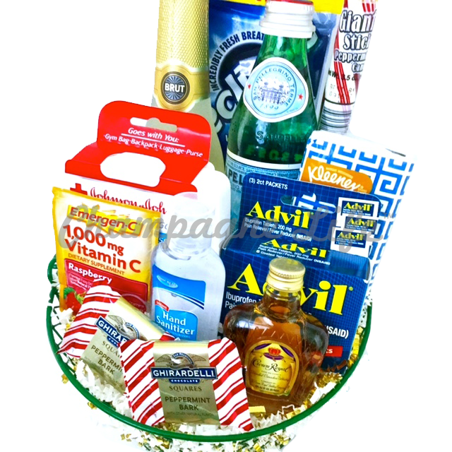 holiday survival kit champagne life gift baskets