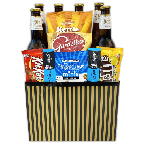 BEER AND SNACKS GIFT BOX - CHAMPAGNE LIFE