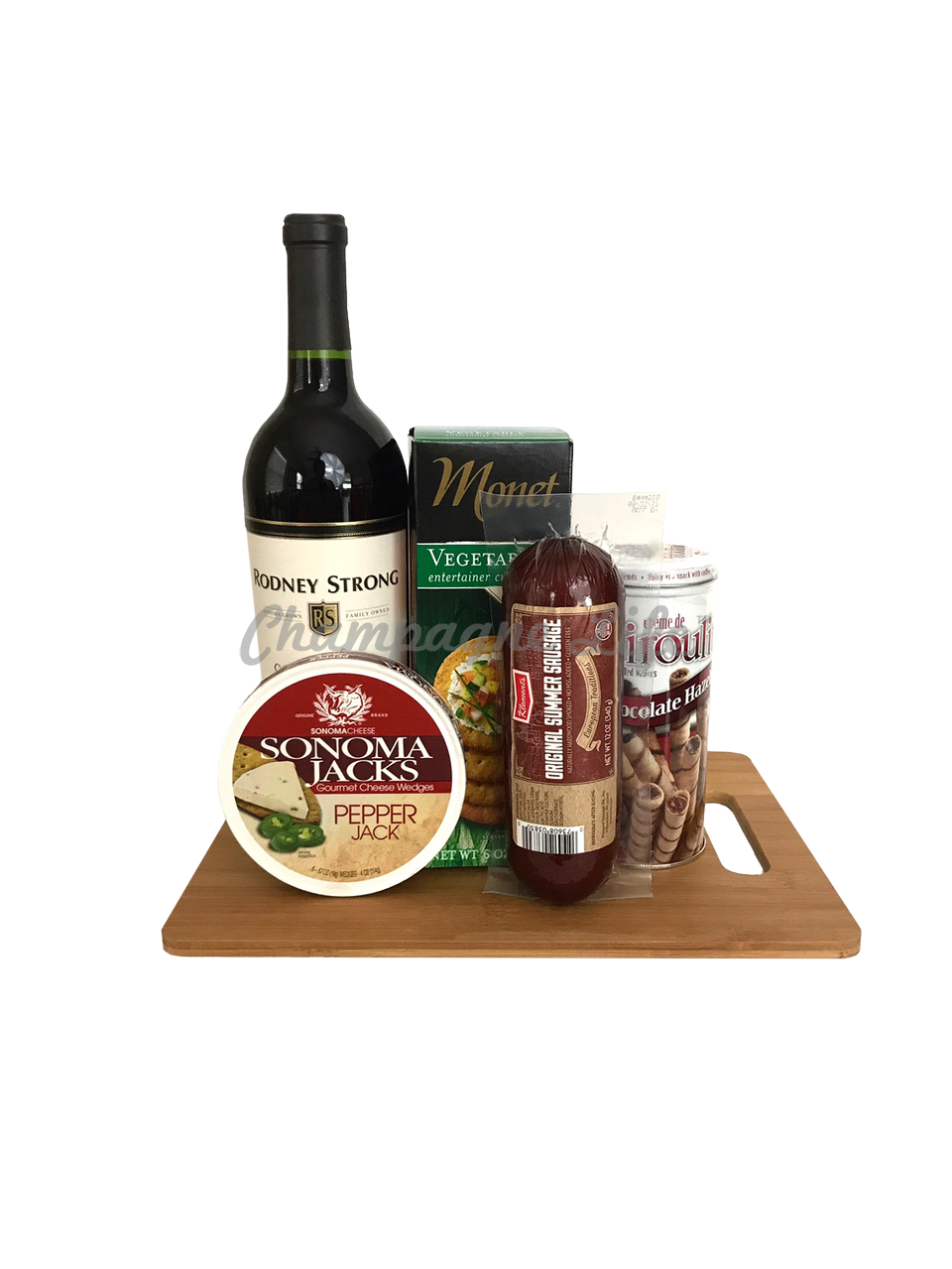 Wine And Cheese Board Gift Set Champagne Life Gift Baskets
