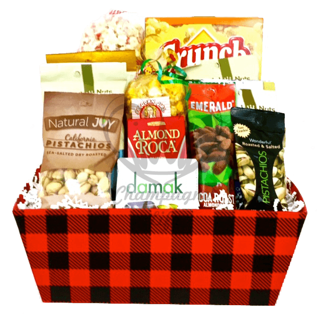 Snack Lovers Favorite  sc 1 st  Ch&agne Life Gift Baskets & Popcorn and Nuts Gift Basket - Champagne Life Gift Baskets