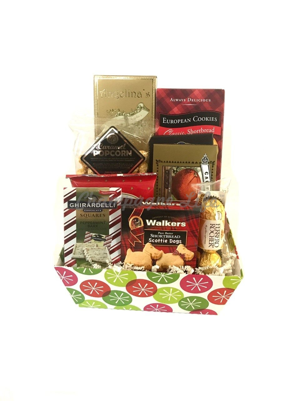 Christmas Treats Gift Basket Champagne Life Gift Baskets