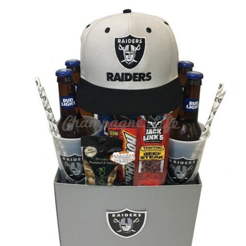 Nfl Raiders Gift Basket Champagne Life Gift Baskets