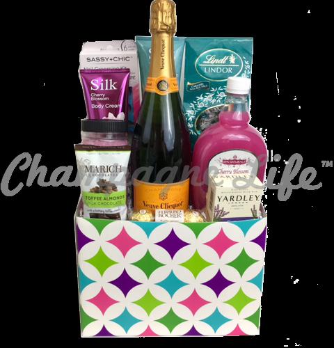 Veuve Clicquot Bubble Bath Gift Basket