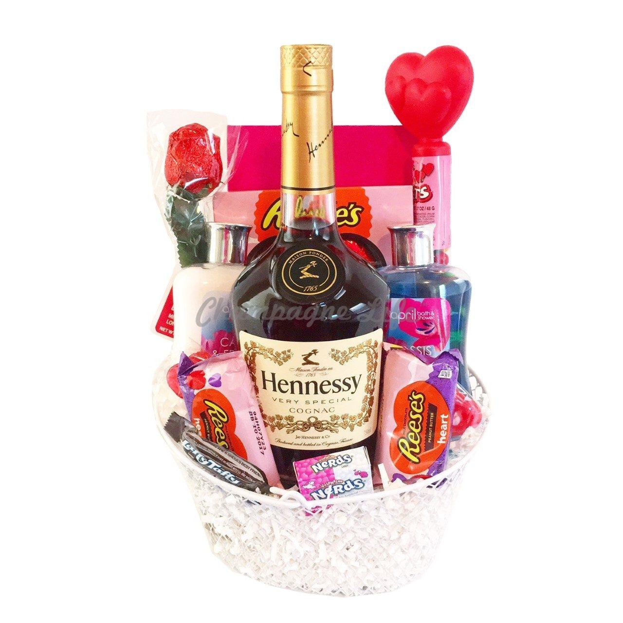 Valentine S Day Hennessy Gift Basket