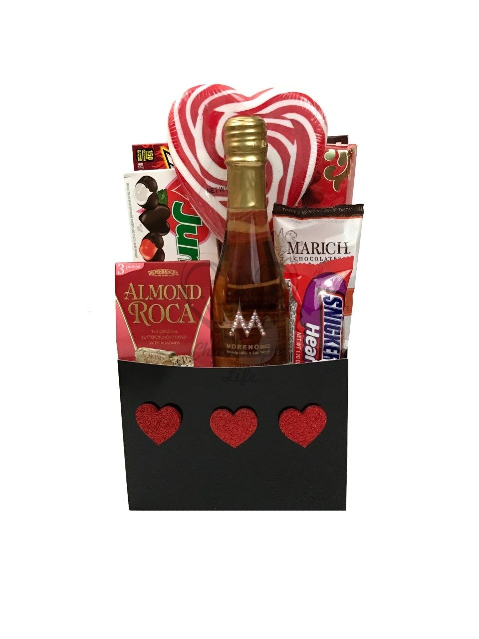 Valentines day rose champagne and chocolate gift basket top rated valentines gift negle Choice Image