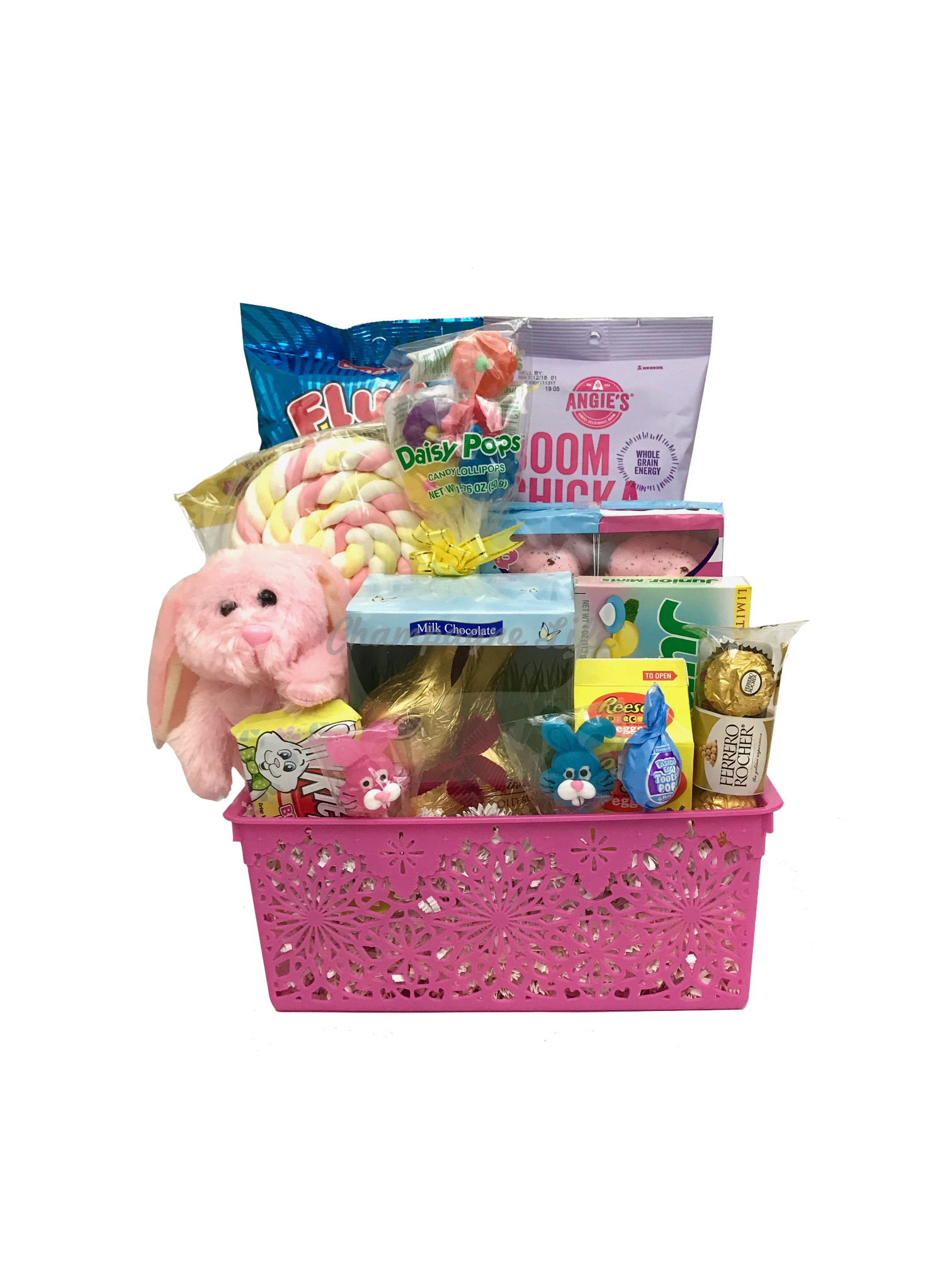 Girls pink easter gift basket negle Image collections