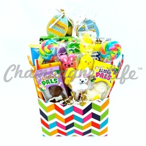 Las vegas easter gift baskets champagne life gift baskets colorful easter candy gift box negle Images