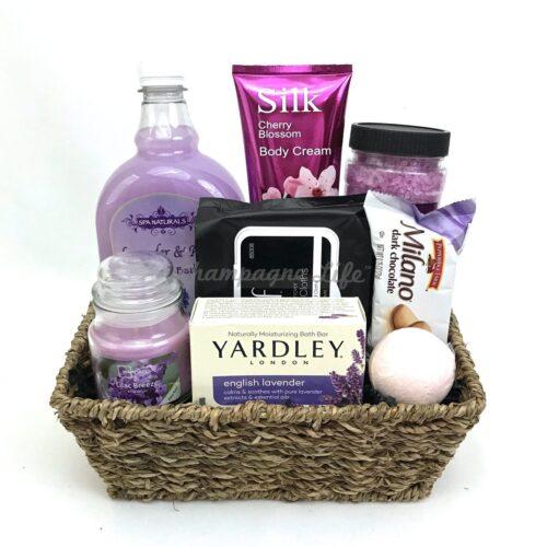 Lavender Spa Relaxation Basket