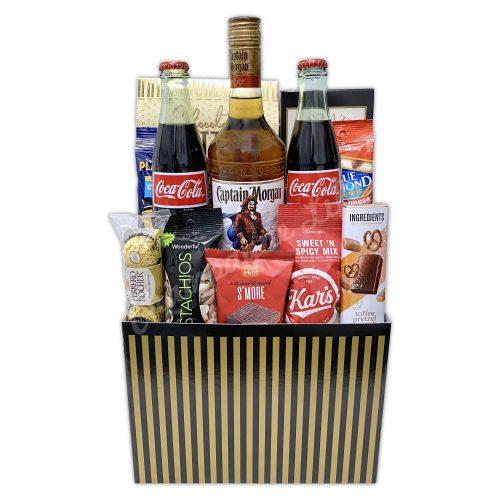 Champagne Life - Captain Morgan & Coke Gift Basket