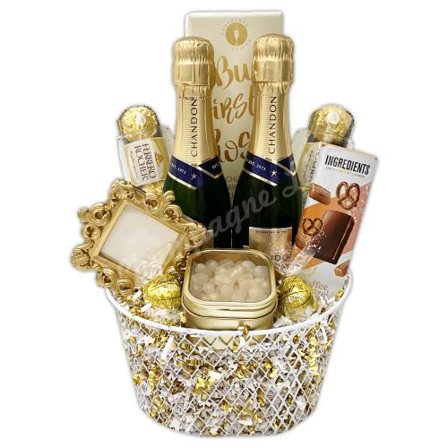 Champagne Life - Gold Champagne Toast Gift Basket