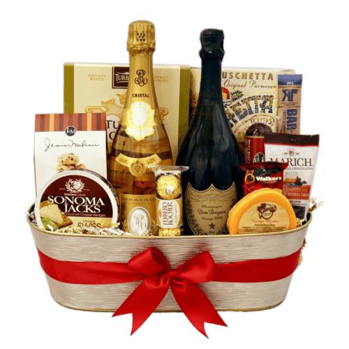 Cristal Dom Perignon Gift Basket
