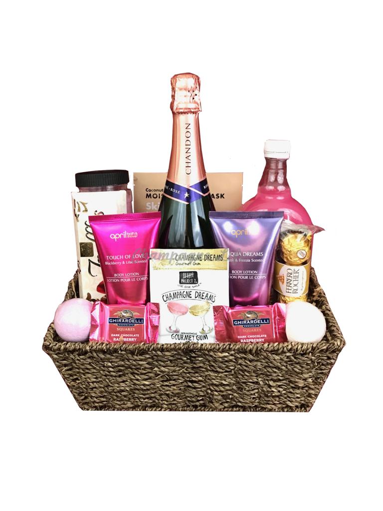 Champagne Bubble Bath Basket Champagne Life Gift Baskets