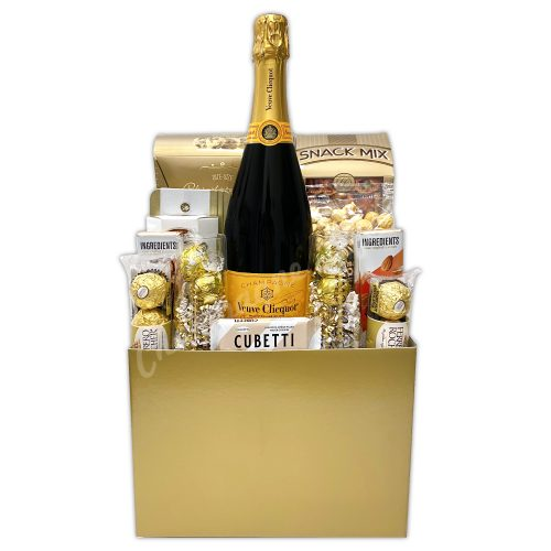 Champagne Life - Gold Wedding Gift Basket