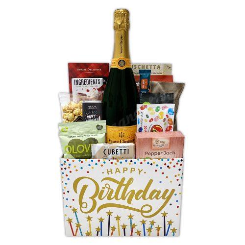 Champagne Life - Veuve Gourmet Birthday Gift Basket