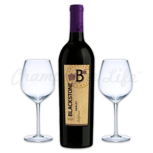 Champagne Life - Blackstone Merlot Wine Toast Set