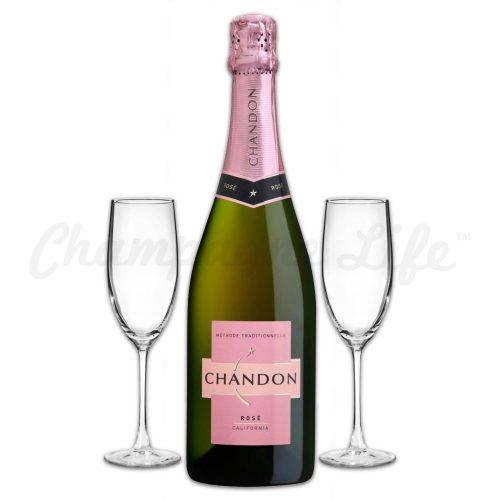 Champagne Life - Chandon Rose Toast Set