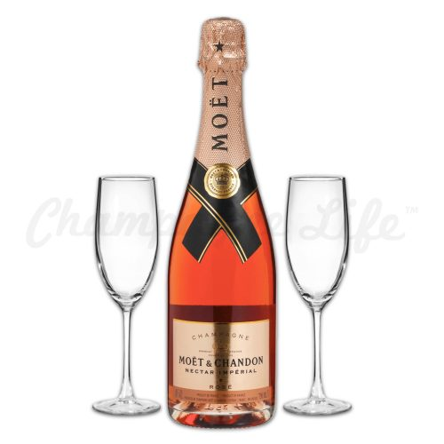 Champagne Life - Moet & Chandon Nectar Imperial Rose Toast Set