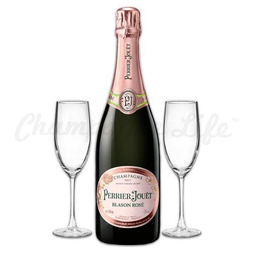 Champagne Life - Perrier Jouet Blason Rose Toast Set