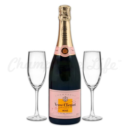 Champagne Life - Veuve Clicquot Rose Toast Set