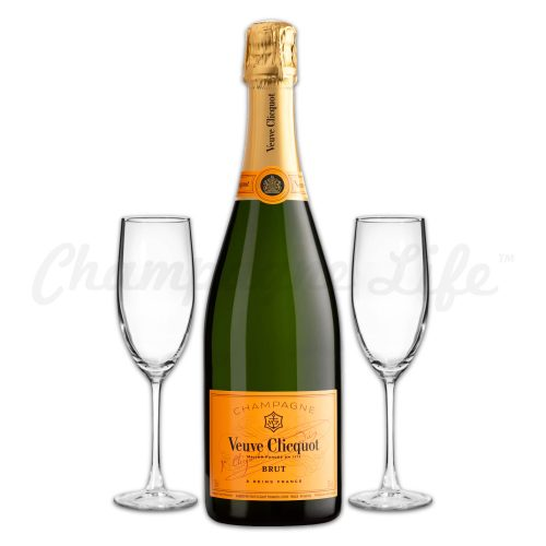 Champagne Life - Veuve Clicquot Yellow Label Toast Set