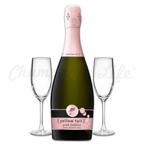Champagne Life - Yellowtail Pink Bubbles Toast Set