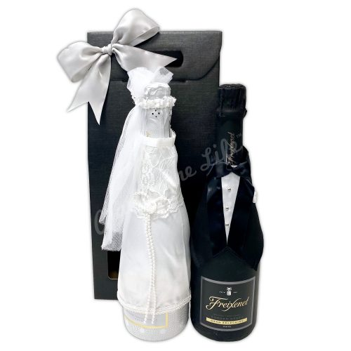 Champagne Life - Bride and Groom Champagne Bottle Set