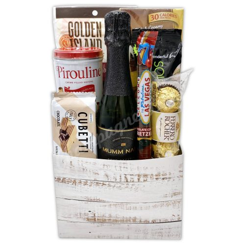 Champagne Life - Bubbles & Snacks Gift Basket