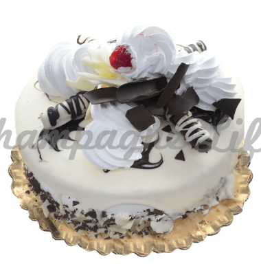 Fabulous Chocolate Vanilla Cake Champagne Life Gift Baskets Funny Birthday Cards Online Inifofree Goldxyz