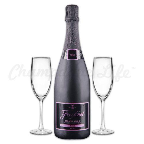 Champagne Life - Freixenet Cordon Negro Rose Toast Set