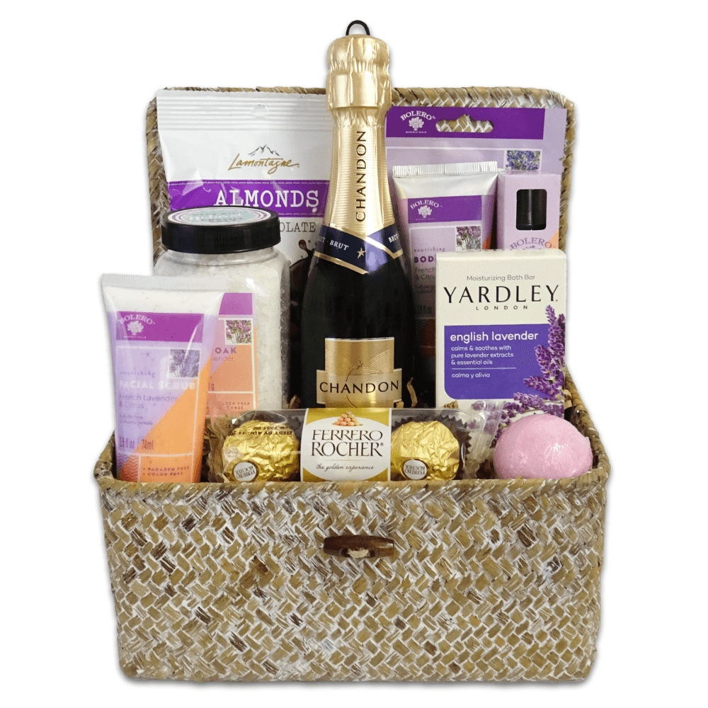 Mother's Day Relaxation Gift Basket - Champagne Life
