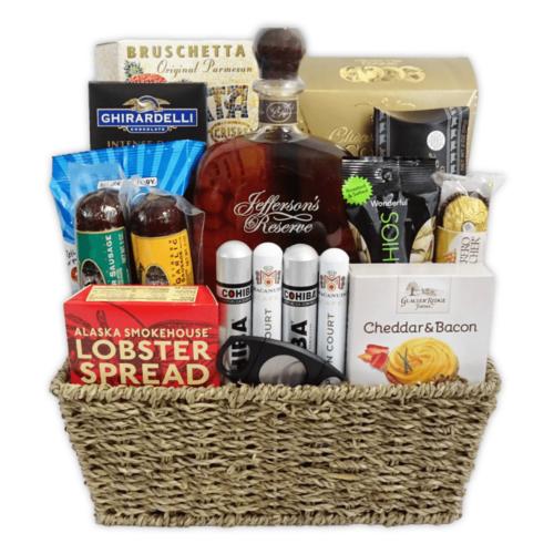 Champagne Life - Bourbon & Cigar Gift Basket