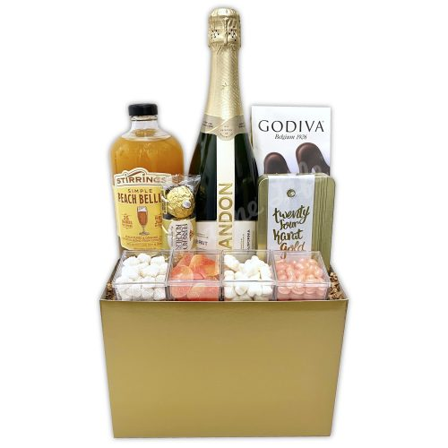 Champagne Life - Peach Bellini Gift Basket