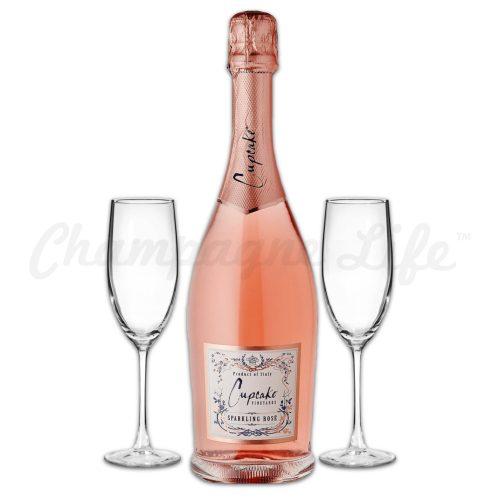 Champagne Life - Cupcake Sparkling Rose Toast Set
