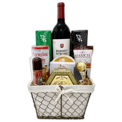 Champagne Life - Deluxe Wine & Cheese Gift Basket